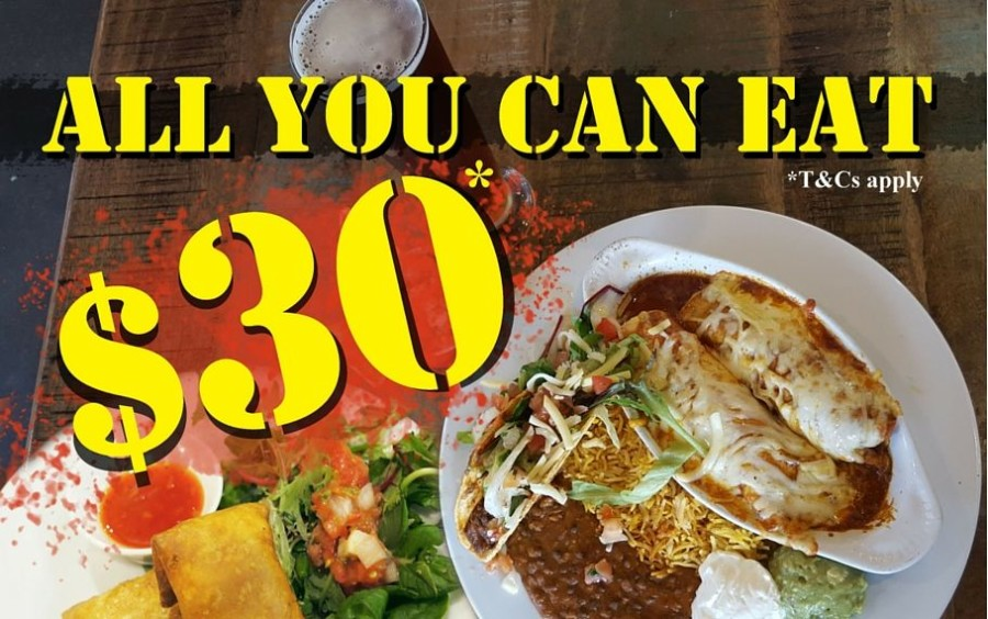Monday Night All-You-Can-Eat IndiMex Sampler Deal!