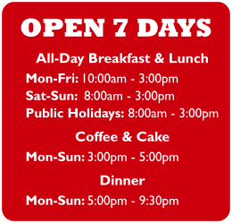 Milton and Greenslopes Opening Hours