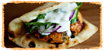 IndiMex Tandoori Chicken Burger